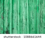 Painted Pastel Green Wood...