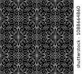 vintage line art tracery vector ... | Shutterstock .eps vector #1088664860
