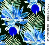 watercolor seamless pattern... | Shutterstock . vector #1088667170