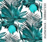 watercolor seamless pattern... | Shutterstock . vector #1088667233