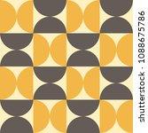 geometric mid century modern... | Shutterstock .eps vector #1088675786