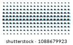 shipment van icon halftone...   Shutterstock .eps vector #1088679923