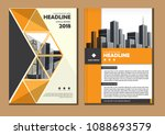brochure design  cover modern... | Shutterstock .eps vector #1088693579