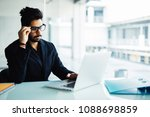 confused indian businessman... | Shutterstock . vector #1088698859