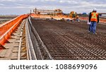 workers on bridge deck panels... | Shutterstock . vector #1088699096