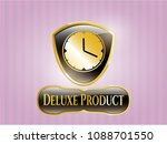 gold emblem with clock  time... | Shutterstock .eps vector #1088701550