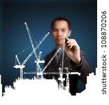 business man drawing...   Shutterstock . vector #108870206