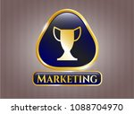 gold badge with trophy icon...   Shutterstock .eps vector #1088704970