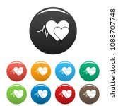 cardiology icon. simple... | Shutterstock .eps vector #1088707748