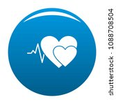 cardiology icon. simple... | Shutterstock .eps vector #1088708504