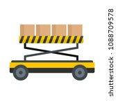 loader platform icon. flat... | Shutterstock .eps vector #1088709578