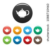 teapot with handle icon. simple ... | Shutterstock .eps vector #1088710460