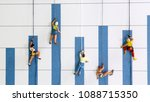 the miniature climbers use a... | Shutterstock . vector #1088715350