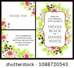 romantic invitation. wedding ... | Shutterstock .eps vector #1088720543
