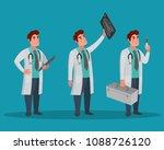 set of doctors characters.... | Shutterstock .eps vector #1088726120
