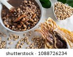 rice bean cuttlefish porridge   ... | Shutterstock . vector #1088726234