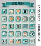 set of education icons   part 1 ... | Shutterstock .eps vector #108872729