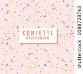bright colorful vector confetti ... | Shutterstock .eps vector #1088728763