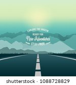 highway drive with beautiful... | Shutterstock .eps vector #1088728829