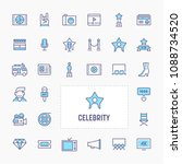 celebrity   thin line website ... | Shutterstock .eps vector #1088734520