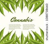 green cannabis leaves. vector... | Shutterstock .eps vector #1088738660