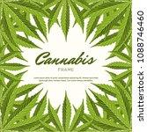 green cannabis leaves. vector... | Shutterstock .eps vector #1088746460
