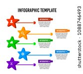 colorful star infographic... | Shutterstock .eps vector #1088746493