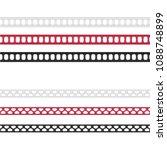 fashion elements  ladder stitch ...   Shutterstock .eps vector #1088748899