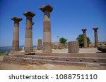 doric columns of the ancient... | Shutterstock . vector #1088751110