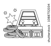 arcade game design | Shutterstock .eps vector #1088752034
