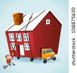 moving house | Shutterstock .eps vector #108875630