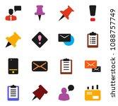 solid vector ixon set   paper... | Shutterstock .eps vector #1088757749