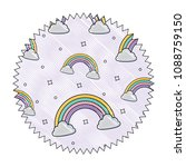 rainbows pattern design | Shutterstock .eps vector #1088759150
