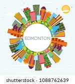 edmonton city skyline with... | Shutterstock . vector #1088762639