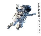 astronaut on white. mixed media | Shutterstock . vector #1088772170