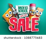 back to school sale banner... | Shutterstock .eps vector #1088775683