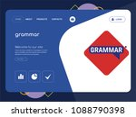 quality one page grammar...   Shutterstock .eps vector #1088790398