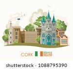 Cork City. Ireland Vector...