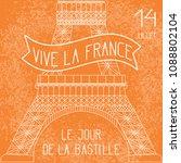 bastille day. july 14. french... | Shutterstock .eps vector #1088802104