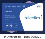 quality one page telecom... | Shutterstock .eps vector #1088805320