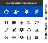 modern  simple vector icon set... | Shutterstock .eps vector #1088806928