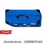 top view vector summertime... | Shutterstock .eps vector #1088809160