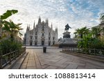 milan  italy. historic center... | Shutterstock . vector #1088813414