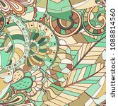 tracery seamless pattern.... | Shutterstock .eps vector #1088814560