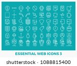 essential mixed web icons set... | Shutterstock .eps vector #1088815400