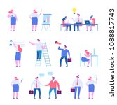 business people character set... | Shutterstock .eps vector #1088817743