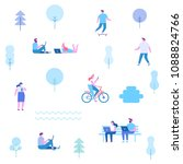 flat illustration of people... | Shutterstock .eps vector #1088824766