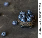 Blueberries In An Vintage Bowl...