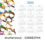 cute calendar on new year 2013... | Shutterstock . vector #108882944
