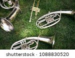 closeup of a set of old musical ... | Shutterstock . vector #1088830520